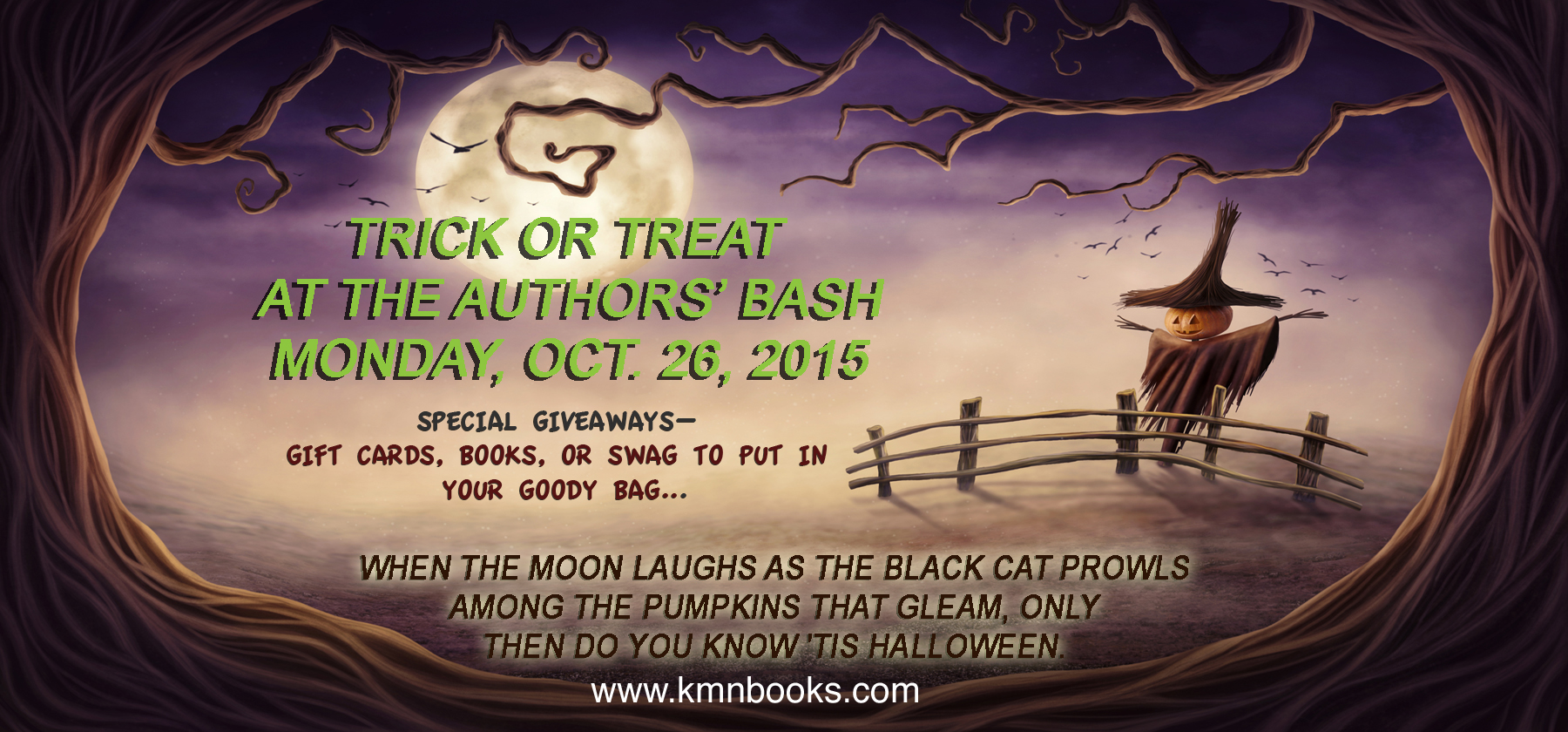 Trick or Treat at the Authors' Bash